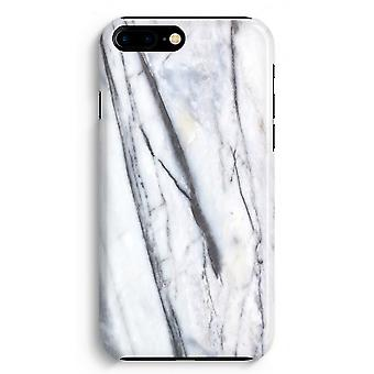 iPhone 8 Plus Full Print Case - Striped marble