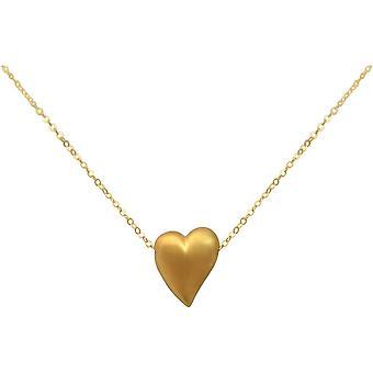 Gemshine - women - Heart - Necklace - pendant - 925 Silver - gold plated - 2.5 cm