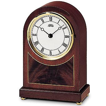 الجدول ساعة خشبية على مدار الساعة الكوارتز، الماهوغوني بيانوفينيش القشرة الخشبية مجلس الوزراء
