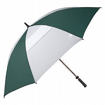 Haas-Jordan 68 Inch Hurricane Double Canopy Golf Umbrella Green/White
