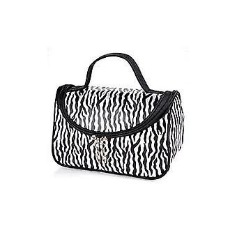 Zebra White Pattern Cosmetic Make Up Travel Package Case Pouch  - Model 172