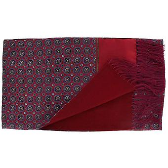 Michelsons of London Vintage Medallion Silk and Wool Scarf - Red