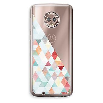 Motorola Moto G6 Transparent Case (Soft) - Coloured triangles pastel