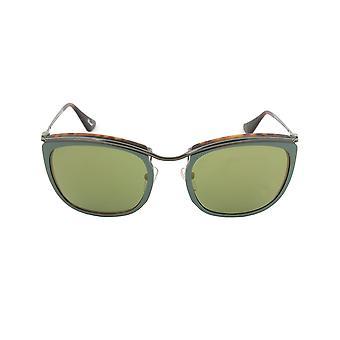 Persol PO3081S 1007/08 Sunglasses | Green and Matte Havana Frame | Green Mirror Gold Lens