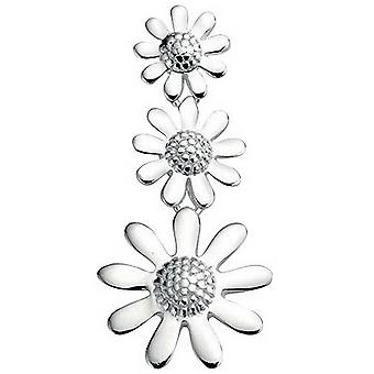 Beginnings Triple Flower Pendant - Silver