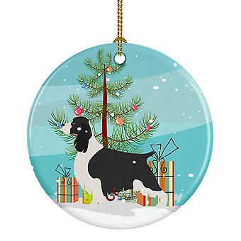 English Springer Spaniel Christmas Ceramic Ornament