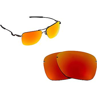 Best SEEK Polarized Replacement Lenses for Oakley TAILHOOK Fire Red Mirror