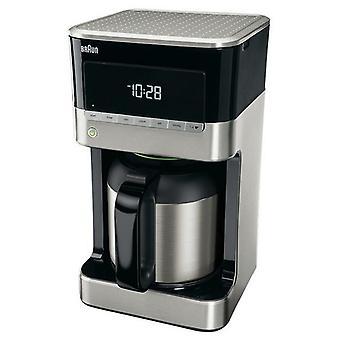 Braun Domestic Home KF7125BK Koffiemachine 1.5L 1000W Grijs/Zwart