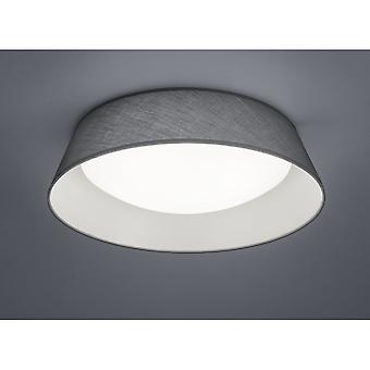 Trio Beleuchtung Ponts modernen grauen Stoff Deckenleuchte