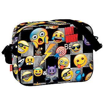 Emoji-Symbol Schultertasche Tasche 38x29x9cm