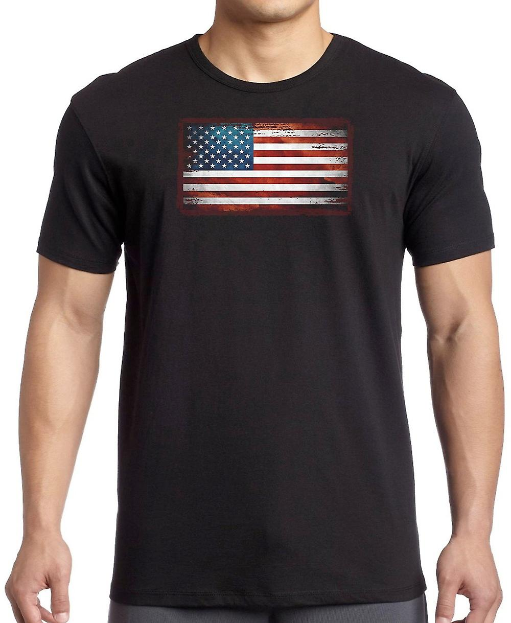 USA American Grunge Flag Kids T Shirt