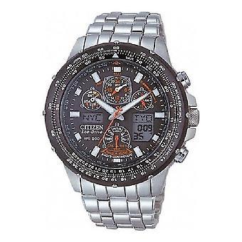 Citizen watch Skyhawk eco drive stainless steel clock chronograph JY0020-64E