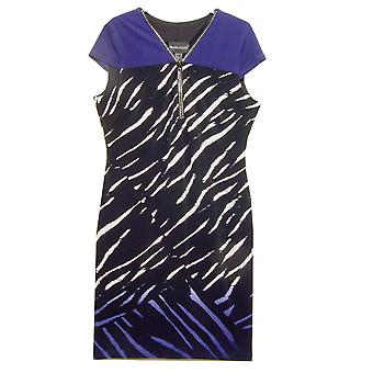 Frank Lyman Dress 173418 Black With Blue And White