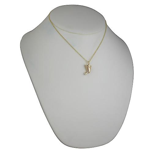 9ct Gold 19x14mm solid Nefertiti bust Pendant with belcher Chain 16 inches Only Suitable for Children