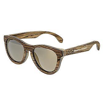 Earth Wood Del Carmen Polarized Sunglasses - Zebrawood/Brown