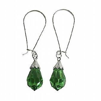 Peridoot Tsjechische Crystal Teardrop Sterling Silver 92.5 Hoop Earrings Hoop Earrings