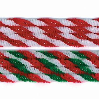 40 Christmas Candy Cane Twist Assorted Pipe Cleaners   Chenille Stems
