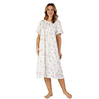 Slenderella ND3107 Frauen Baumwoll Jersey lila lila Nacht Kleid Loungewear Nachthemd