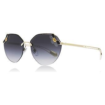 Bvlgari BV6099 20188G sort / bleg guld BV6099 runde solbriller linse kategori 3 størrelse 57mm