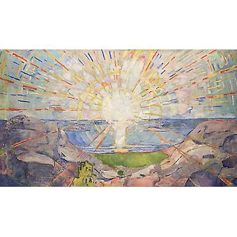 the sun, Edvard Munch, 60x35cm
