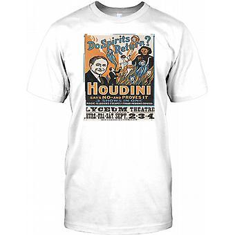 Houdini - Do Spirits Return - Retro Poster Kids T Shirt