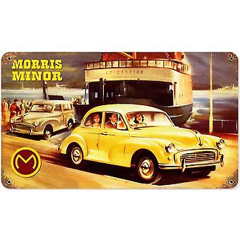 Morris Minor Metal enferrujado assinar 360 X 205 Mm