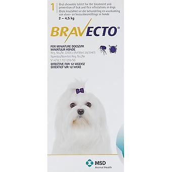 Bravecto Yellow For Dogs 4.4-9.9 lbs. (2-4 kg.)