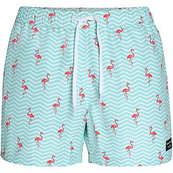 Bjorn Borg Mini flamencos impresión Swim Shorts, Aruba azul