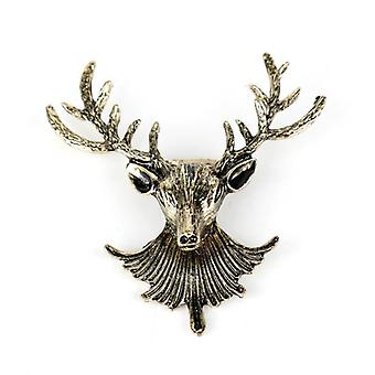 Stags head design metal revers pin broche mænds broche