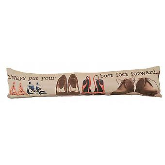 Photochromatic Print Draught Excluder: Best Foot Forward