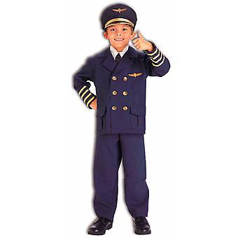 Luchtvaartmaatschappij piloot kapitein vlucht Aviator Marine uniforme boek Week aankleden jongens kostuum