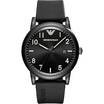 Orologio da uomo con cinturino in silicone nero Emporio Armani Ar11071