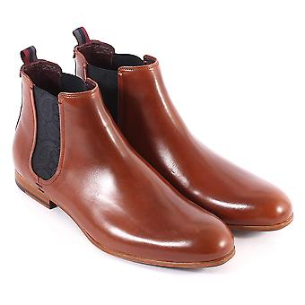 Ted Baker Men's Whron Leather Pull On Chelsea Boot Tan