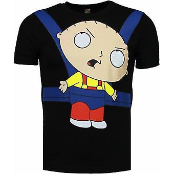 Baby Stewie-T-shirt-Black
