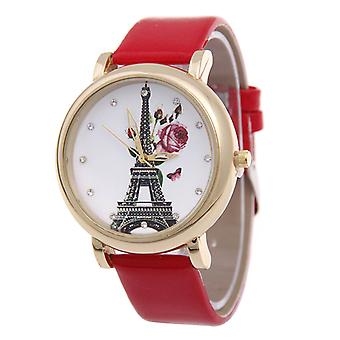 Floral-n-Eiffel Dial Watches-Silver