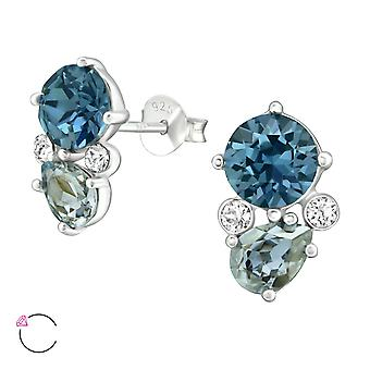 Geometric crystal from Swarovski® - 925 Sterling Silver Ear Studs - W38684X