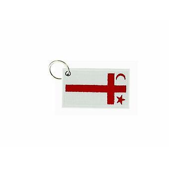 Porte Cle Cles Clef Brode Patch Ecusson Badge Drapeau Mic Mac Micmac Canada