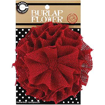 Burlap Flower Red Burflwr 3027