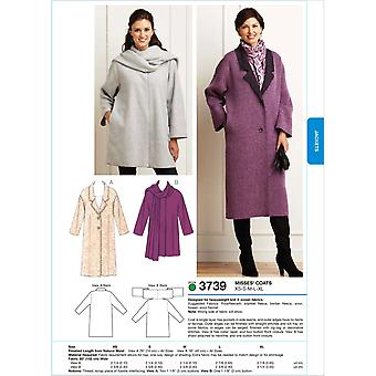 Coats  Xs  S  M  L  Xl Pattern K3739