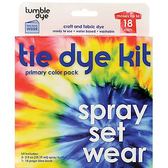 Tumble Dye Craft And Fabric Dye Kit Primary Red Yellow Blue 6 1366