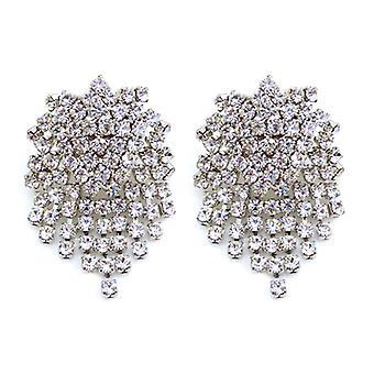 Kenneth Jay Lane Crystal Chandelier Clip On Drop Earrings