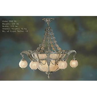 chandelier glass strass lamp brass baroque  antique chandelier strass glass AgEag0098