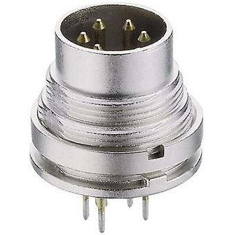 DIN connector Plug, vertical mount Number of pins: 5 Silver Lumberg SGR 50/6 1 pc(s)