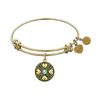 Finish messing marts Birthstone Angelica armbånd, 7.25