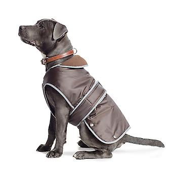 Muddy Paws Stormguard Fleece Lined Coat & Chest Protector Chocolate Small