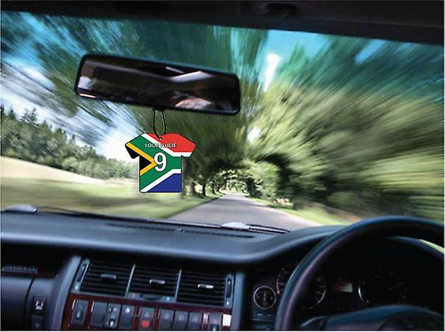 Personalised South Africa Flag Jersey Car Air Freshener