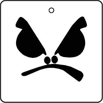 Ambientador de aire de cara enfadada