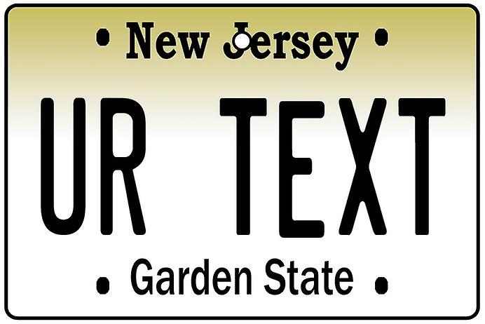 Personalised New Jersey Numberplate Car Air Freshener