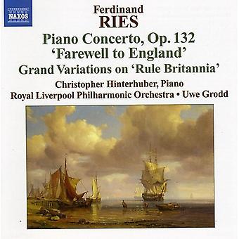 F. Ries - Ferdinand Ries: Pianoconcerten, Vol. 3 [CD] USA import