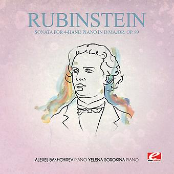 Rubinstein - Sonate for 4-hånd Piano i D store 89 [DVD] USA import